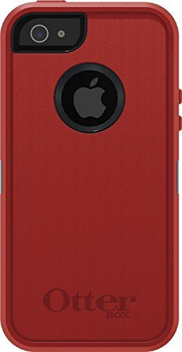 brand new 31bad 1a1a9 OtterBox Defender Series Case for iPhone 5 - Retail Packaging - Red ...