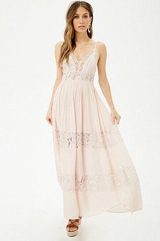 3e4813982d9 Lace-Trim Maxi Dress in 2019
