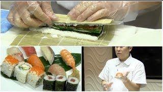 sushi bereiding sushichef