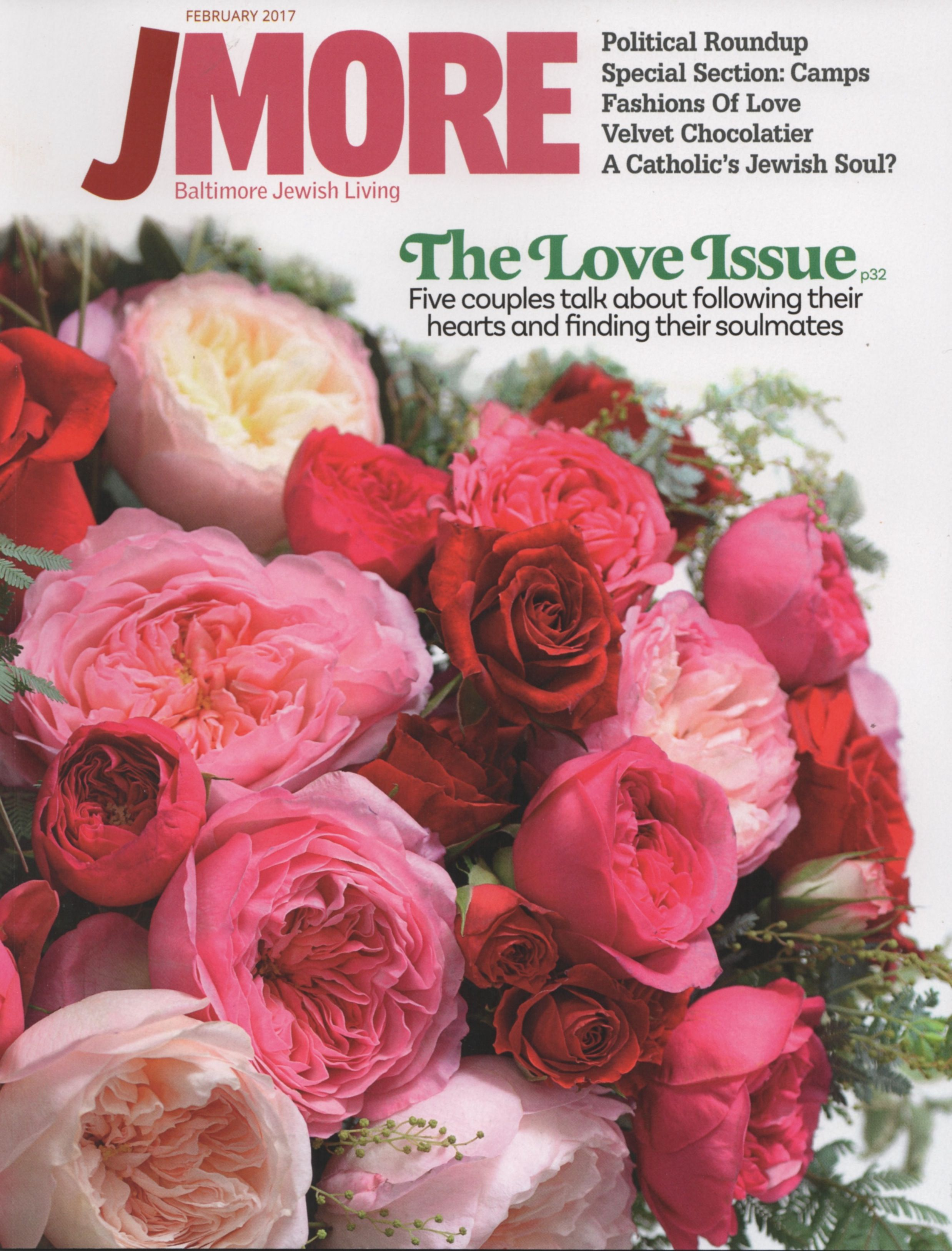 Jmore February 2017 Cover Photo By Evan Cohen Flowers Arranged