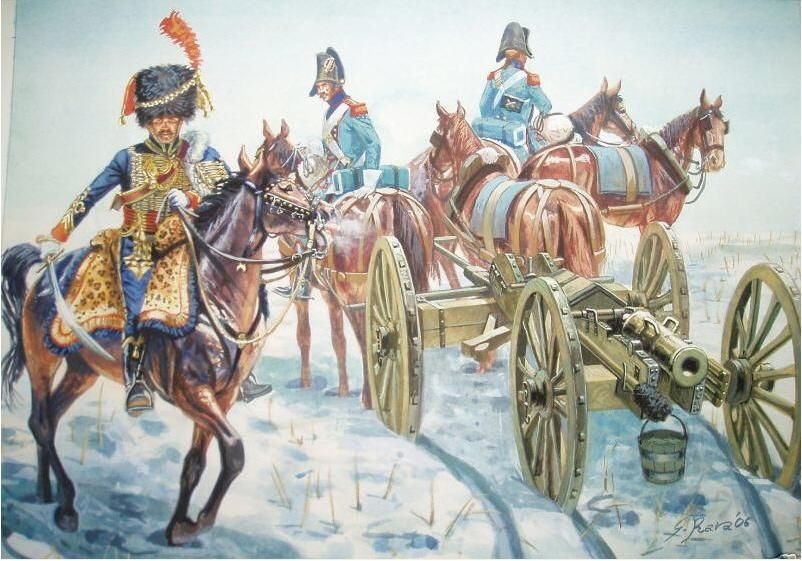 Rava - French Mounted Artillery in the snow