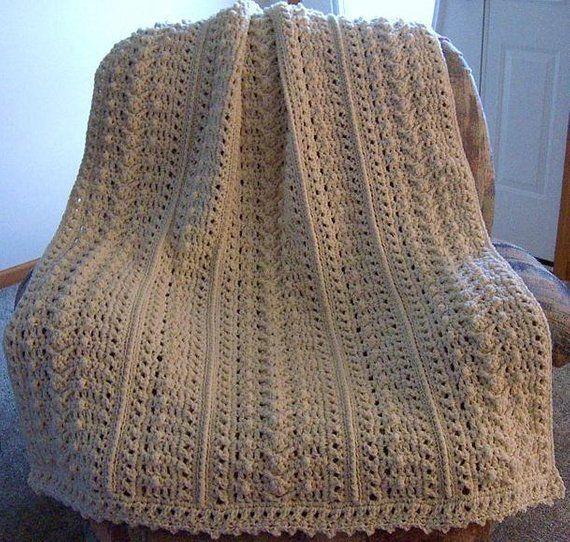 Pattern Only Weekender S Aran Fisherman Crochet Afghan Blanket