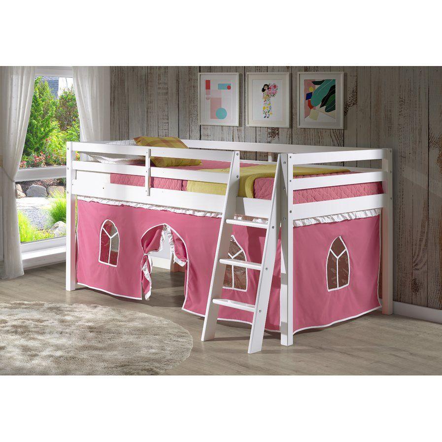 Kids low loft bed  Gladwin Twin Loft Bed  bella bed room  Pinterest  Lofts Bed room