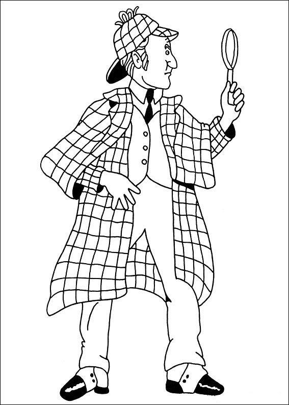 Sherlock Holmes Fargelegging. Tegninger 10   Fargelegging ...