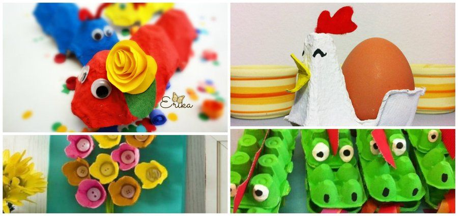 Creativas manualidades con cartón de huevos Craft - ideas creativas y manualidades