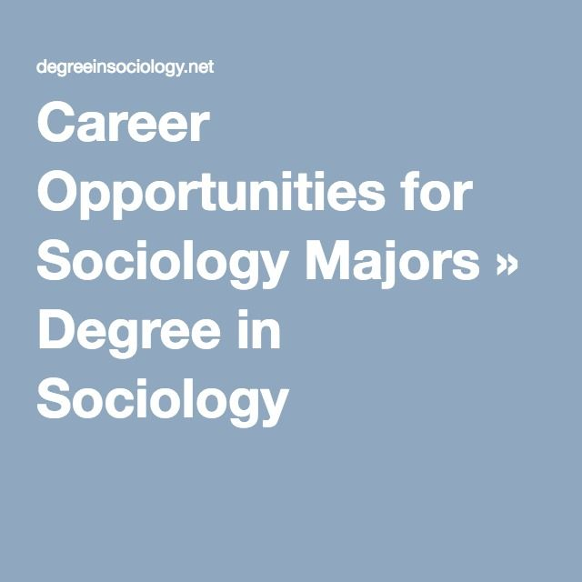 careers in sociology and psychology