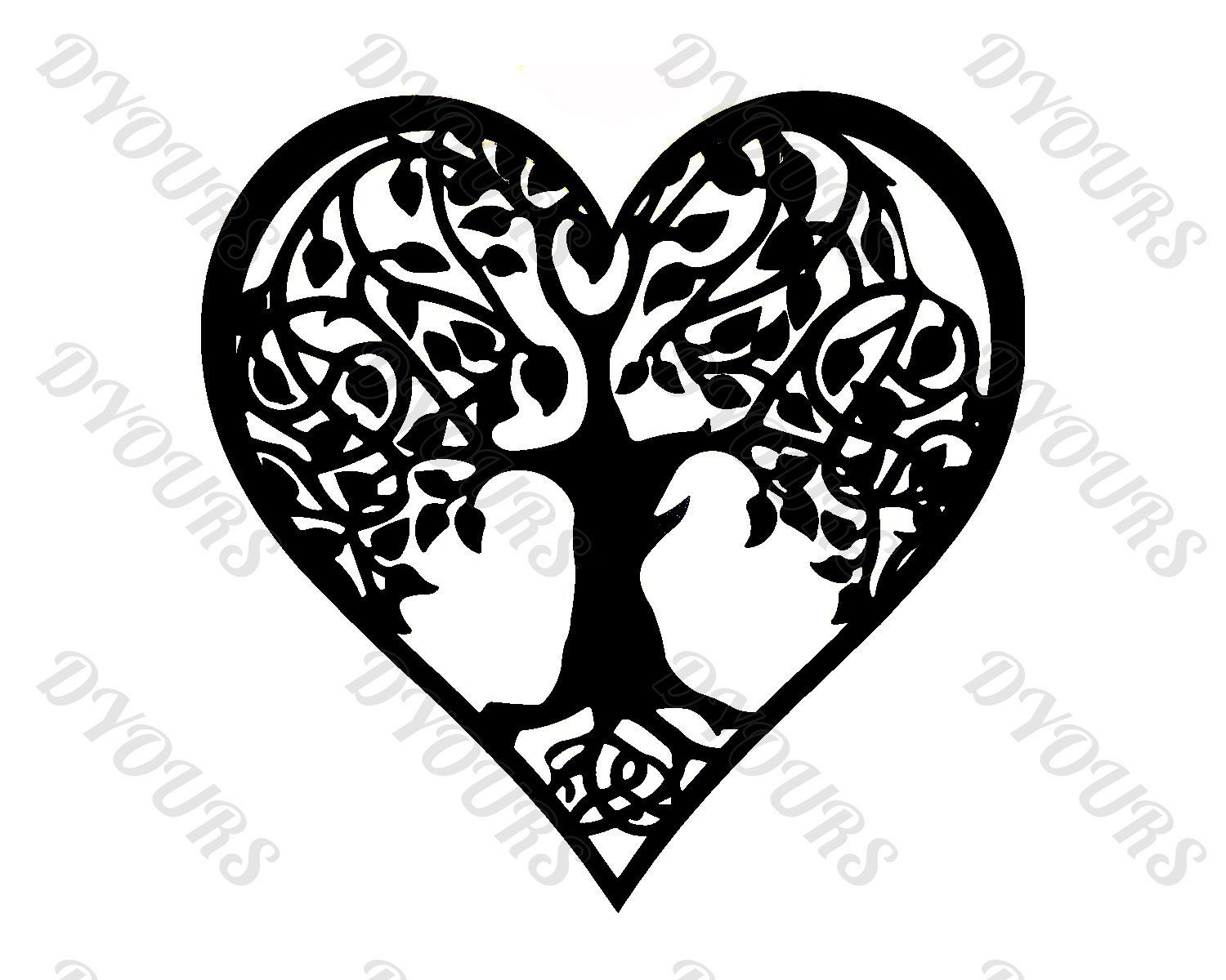 DXF CDR PDF SVG File Heart Wall Plaque
