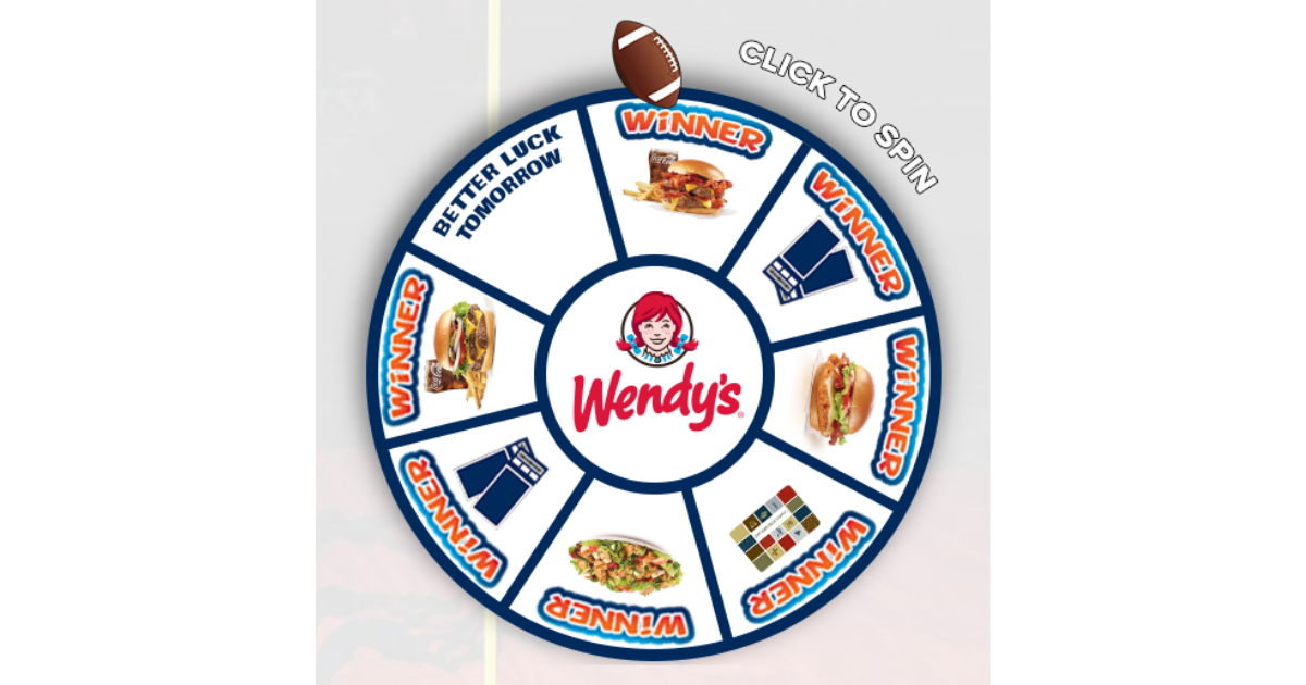 UTSA Wendy's Spin to Win Instant Win Game Instant win