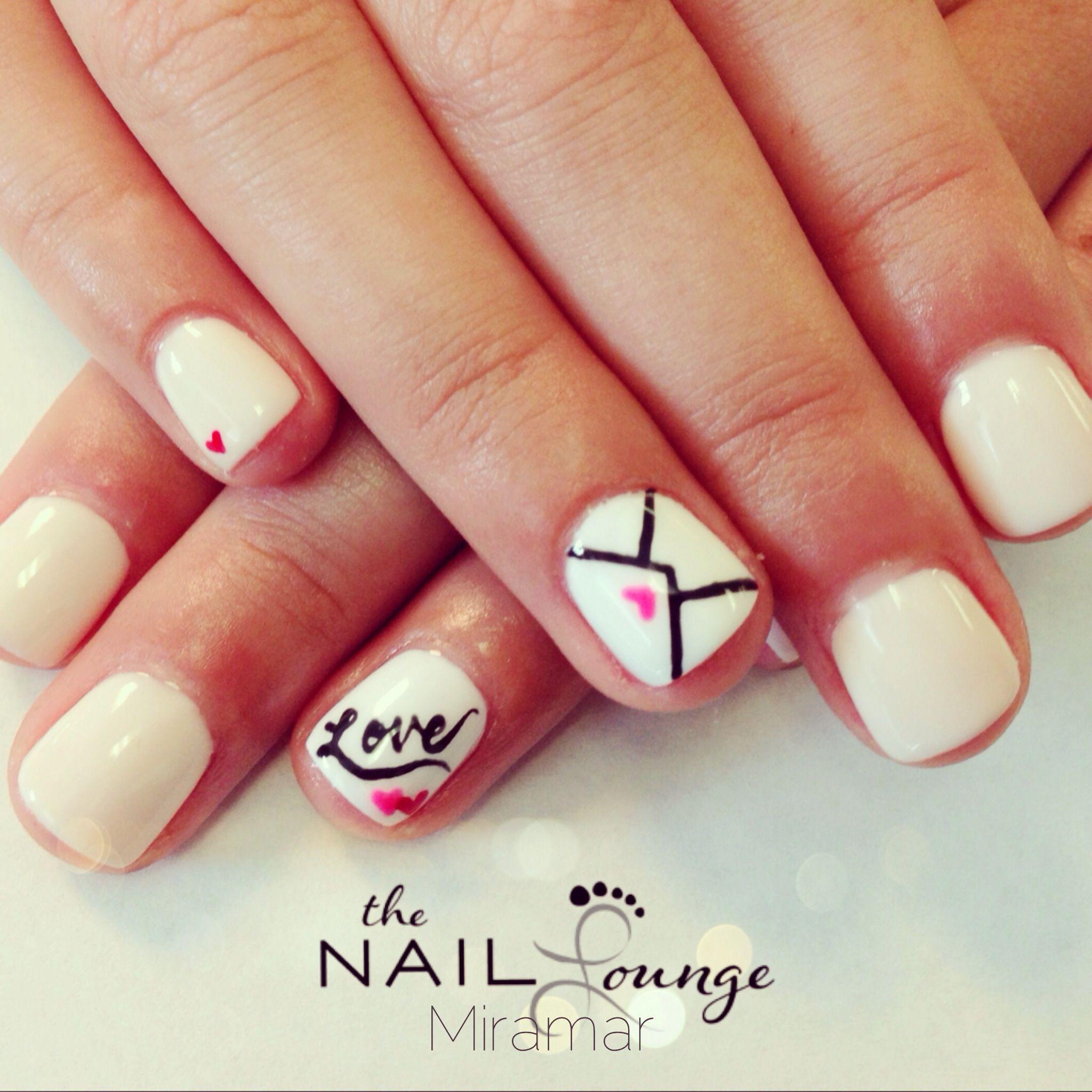 Love letter nail art | Nail Art | Pinterest | Gel nail art, Mani ...