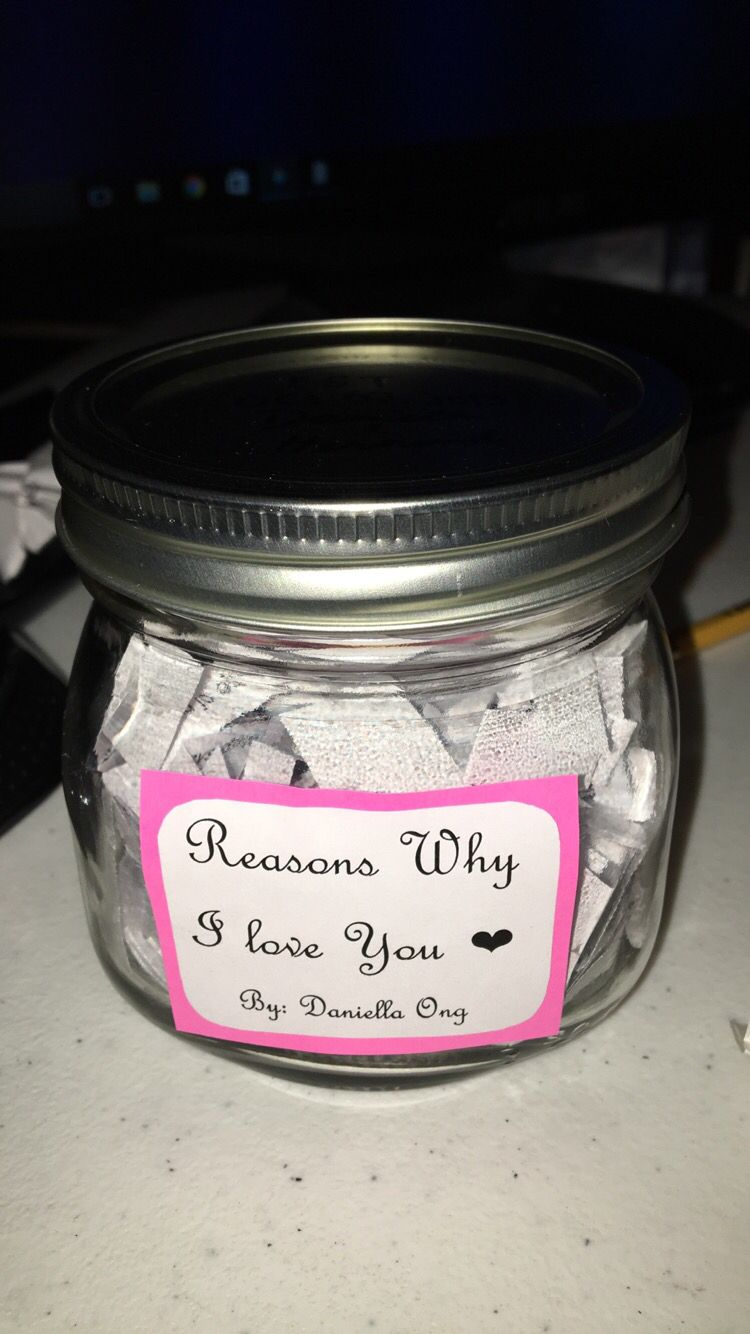 Diy Reasons Why I Love You Mason Jar With Images Reasons Why I