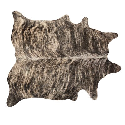 Foundry Select Batres Cowhide Brown Black Area Rug Rugs