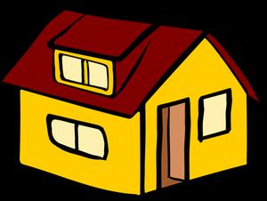 publicdomainvectors org vektor bild gelb einfamilienhauses mit einem roten dach plastic hearts easy drawings detached house logos eule