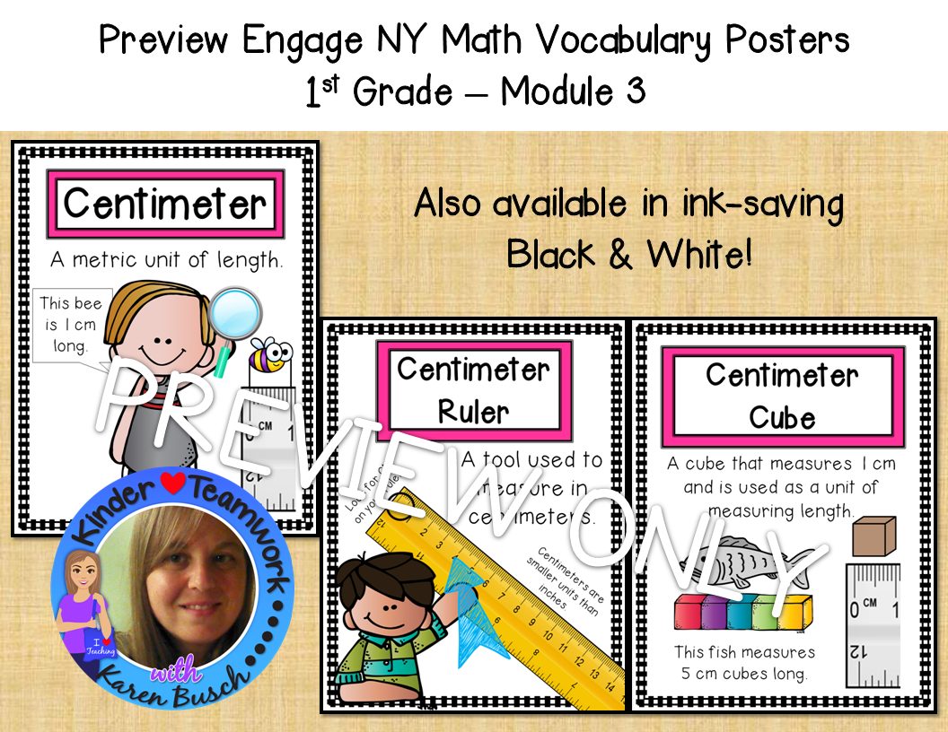 Math Vocabulary Posters For Engage New York First Grade