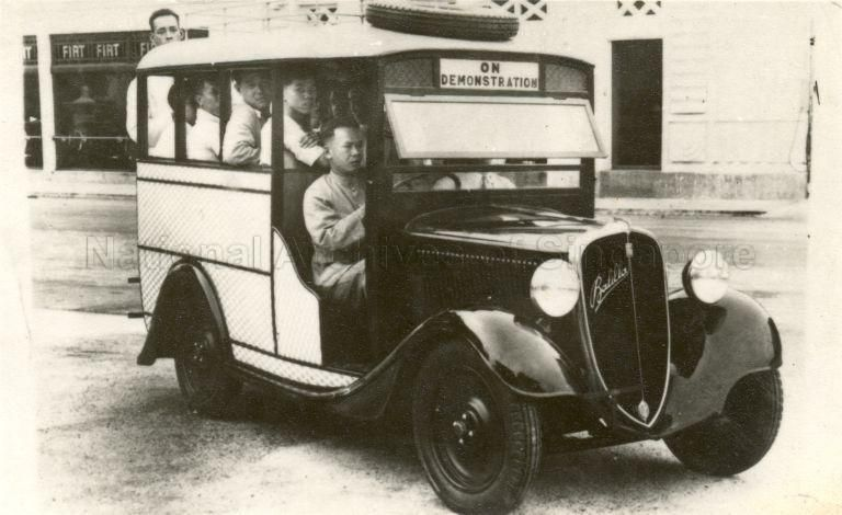 A PASSENGER CAR in Singapore, 1930 Singapore malaysia