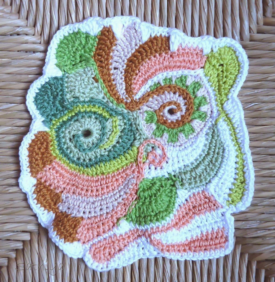 Wie Samt und Seide: Freies Häkeln - freeform crochet | FreeForm ...
