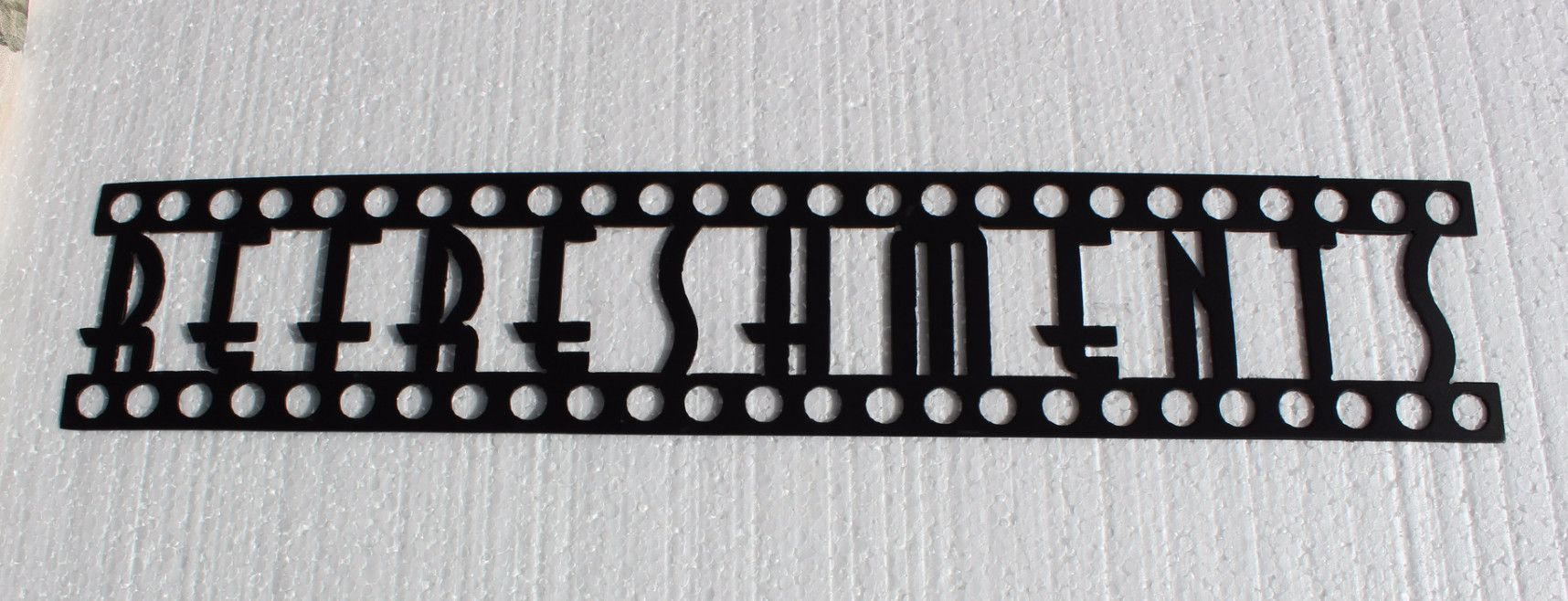 Refreshments word sign home theater decor metal wall art metal
