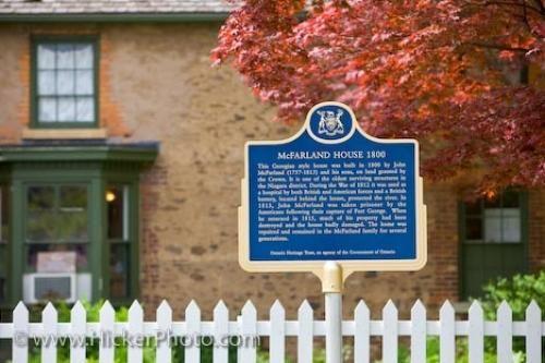 Photo:  McFarland House Visitors Information Sign Ontario Canada