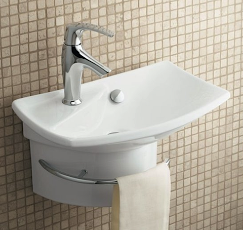 Bathroom Sinks For Small Spaces wall-mount sinks | small sink, sinks and kohler bathroom