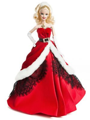 Barbie collection robe rouge