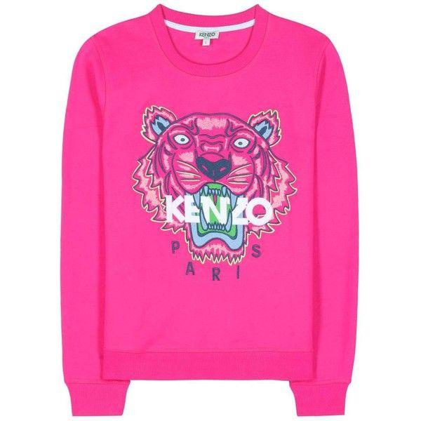 Kenzo Embroidered Cotton Sweatshirt ($220) ❤ liked on
