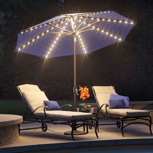 Standing 9 Feet Tall The Lanai Pro Has Built In Star Lights And Is  Available In 6 Different Colors | By Simply Shade