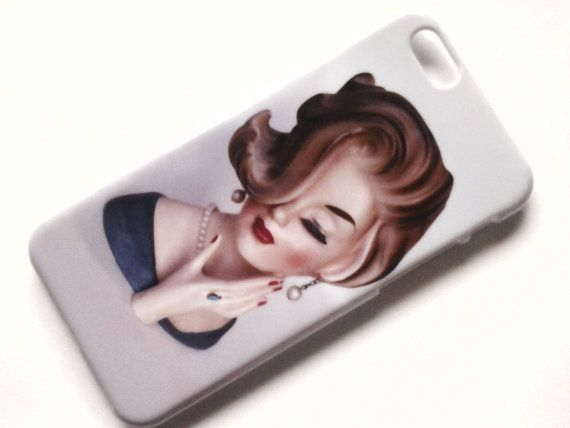 iphone 6 4.7 case retro 50s lady head vase  free by kitschacase