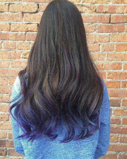 40 Fairy Like Blue Ombre Hairstyles Blue Tips Hair Hair Dye Tips Dipped Hair