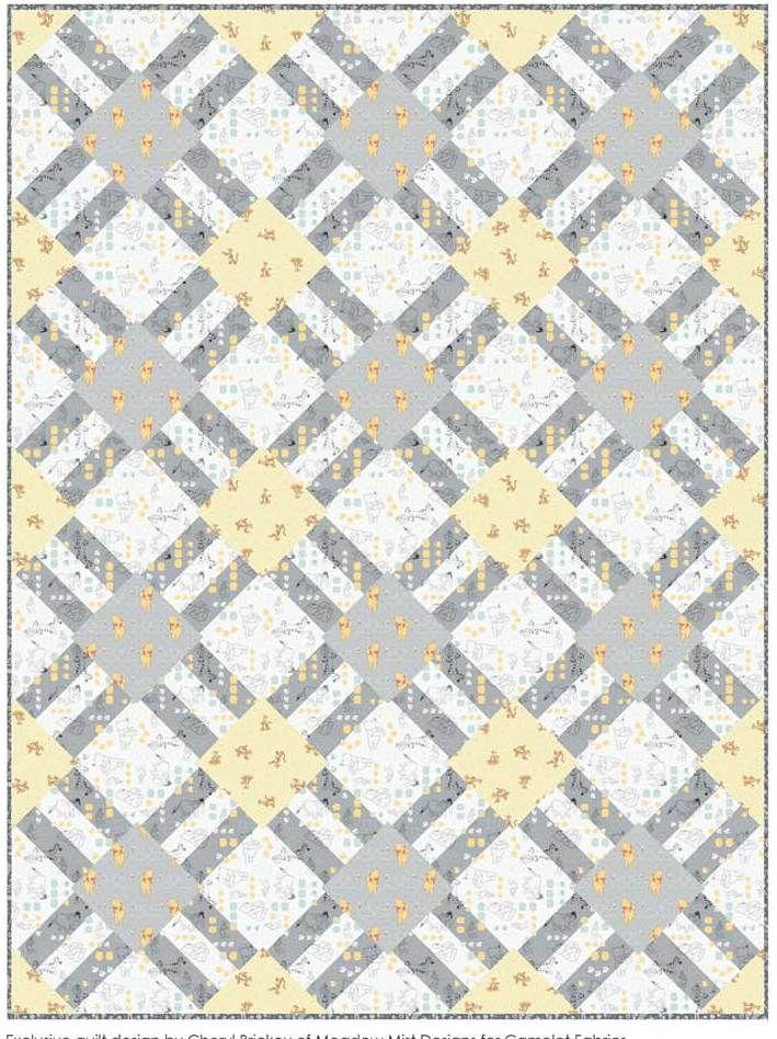 free pattern = Cracker Lattice quilt at Camelot Fabrics   Bordados ...