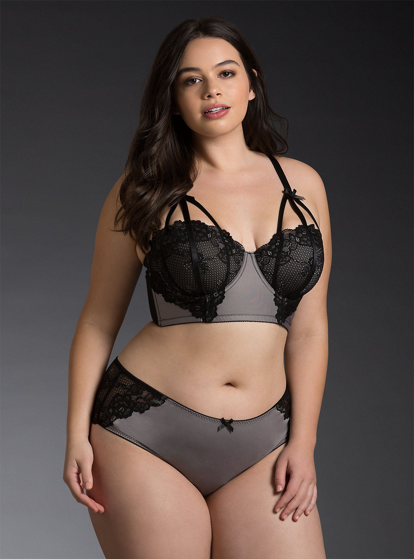 d76a40258002 Grey Microfiber Lace Back Cheekster Panty | For Curvy only :-) | Bra ...