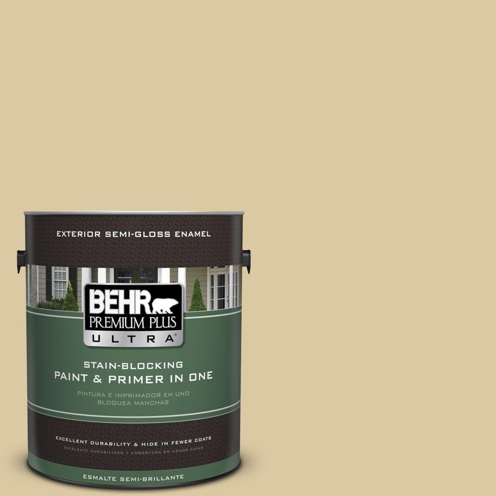 BEHR Premium Plus Ultra 1-gal. #380F-4 Ground Ginger Semi-Gloss Enamel Exterior Paint