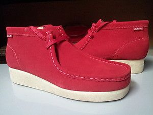 7db51fa1 Details about [61808] Mens Clarks Padmore Wallabee Red Suede Sand ...