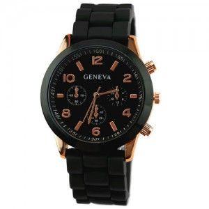 Zegarek Damski Meski Geneva 4 Rodz Jelly Watch Hit Czarny Fashion Watches Fashion Watches
