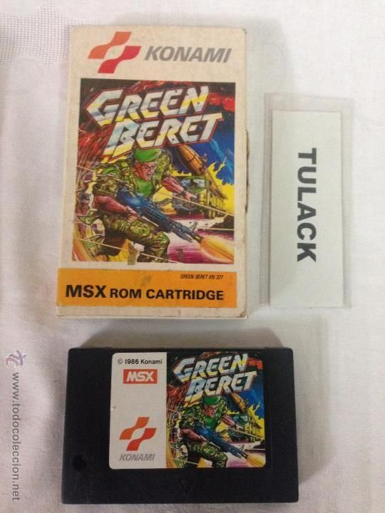 MSX - MSX2 - Cartucho EN CAJA -GREEN BERET - KN 327 (KONAMI)