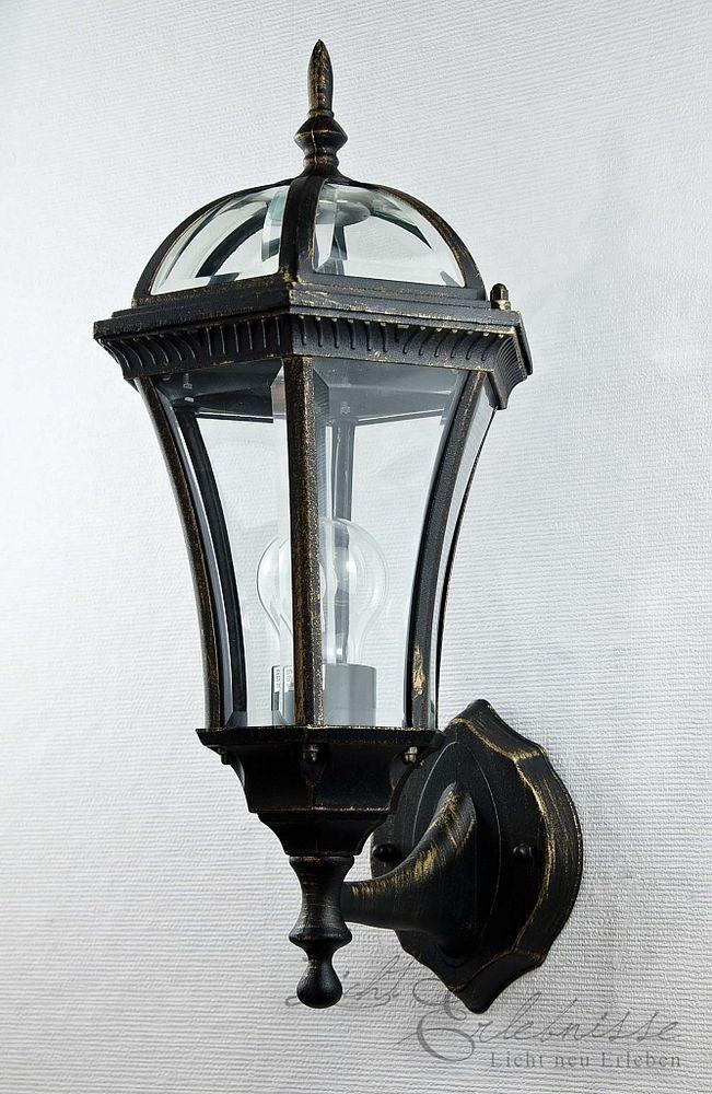 Filigrane Wand Aussenleuchte Wandlampe Dublin In Antik Gold