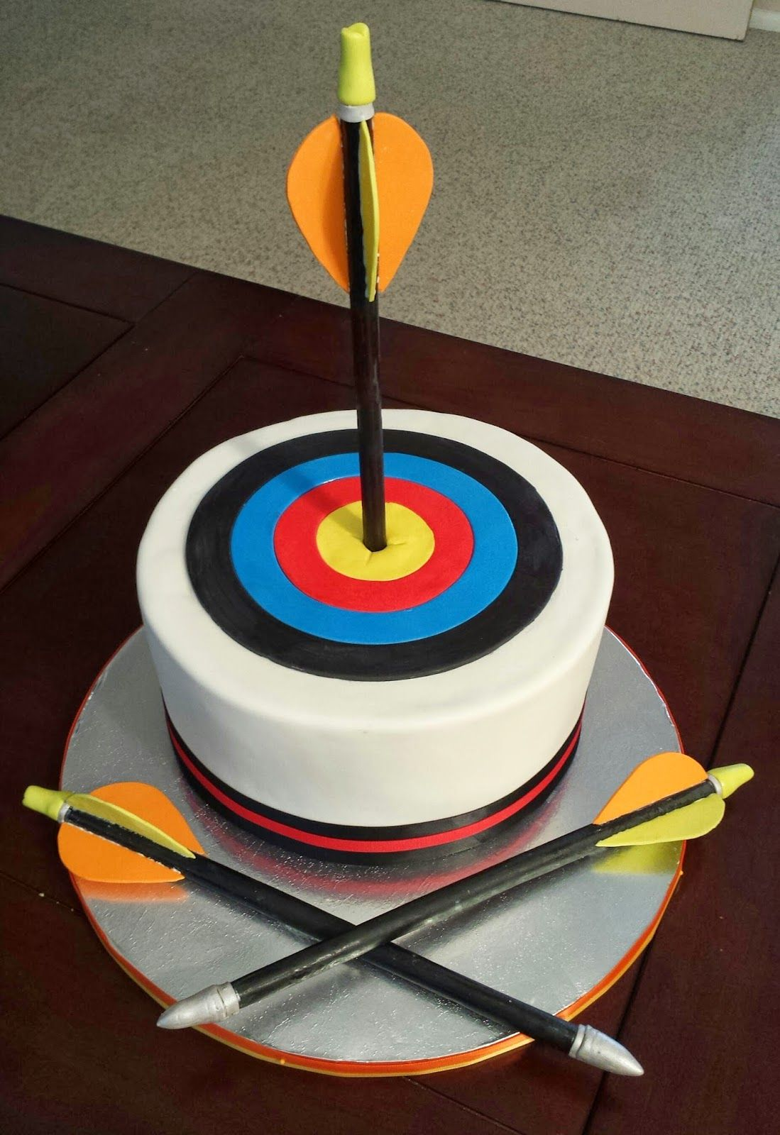 Js Cakes Archery Target And Arrows Birthday Cake