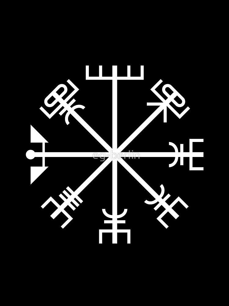 Classic Tattoo Berlin: 'Björk Tattoo - Vegvísir' T-Shirt By Eg-berlin