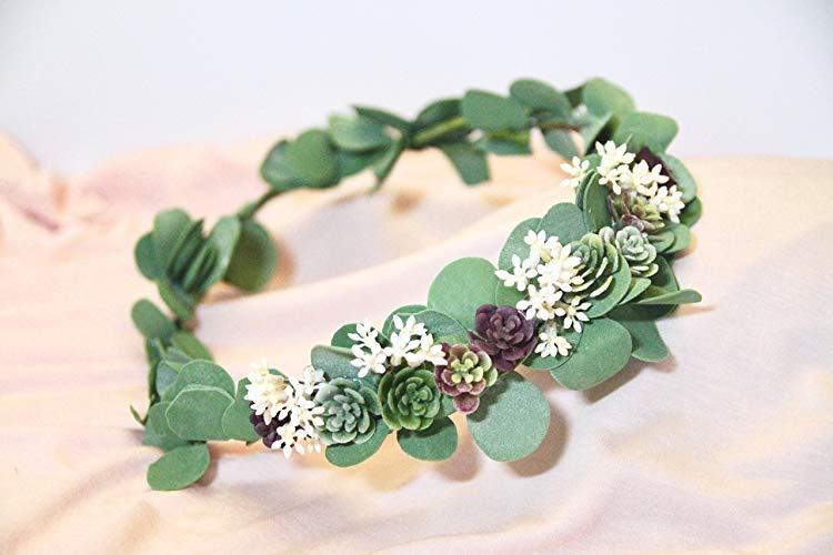 Pin By Adalheidur Sigurdardottir On W Party Wedding Crown Green Wedding Flower Crown