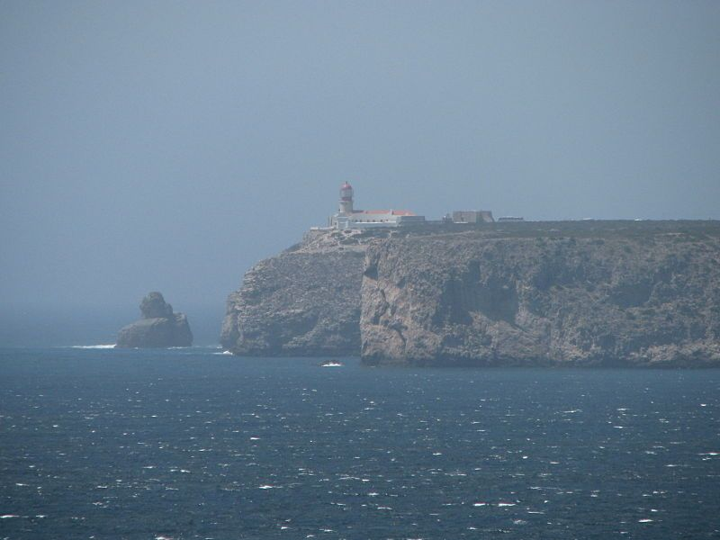 View of the lighthouse at Cape de St Vincent - The end of the world - Sagres - The Algarve, Portugal