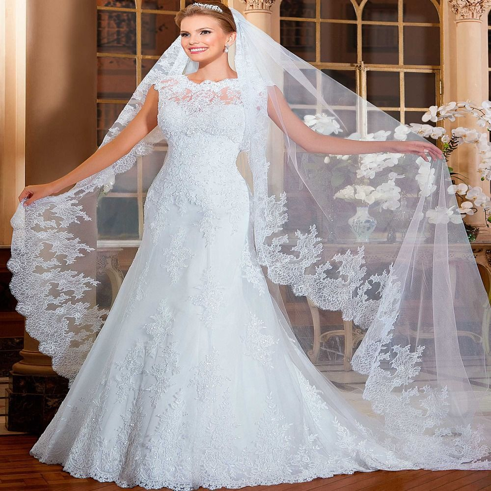 Best wedding dresses aliexpress  Gorgeoous Mermaid Wedding Dress  See Through Back Robe de
