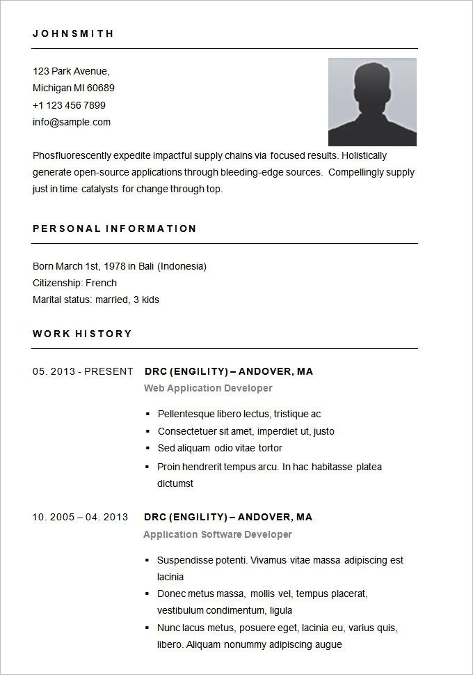basic resume template free samples examples format regarding - basic resume template free