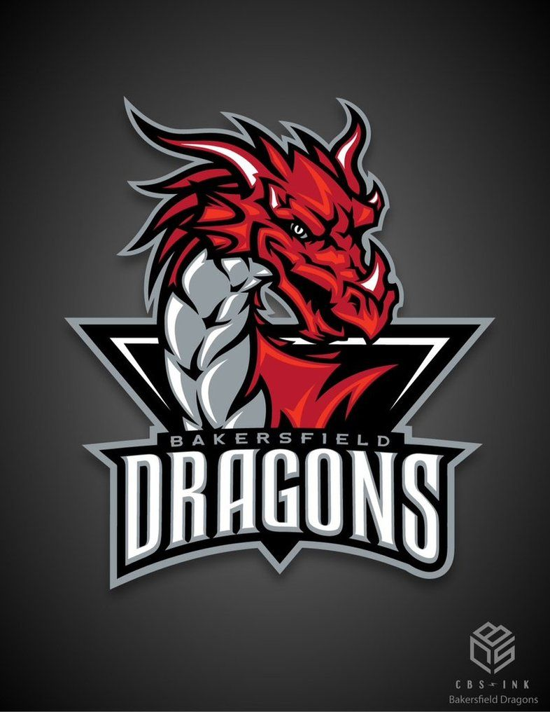 this is the bakersfield dragons new logo a junior hockey