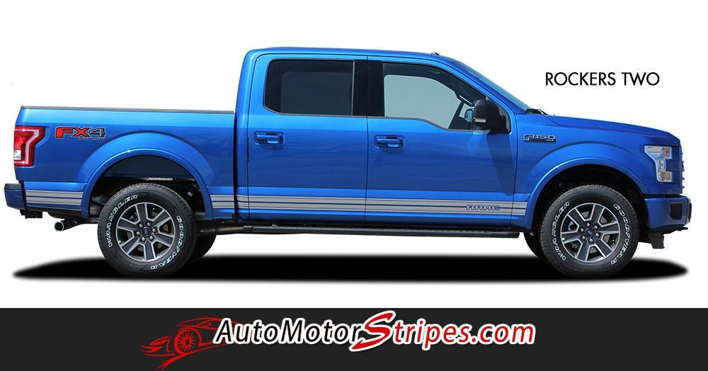Ford F Rocker Two Lower Rocker Stripes Vinyl Decal - Custom decal graphics on vehiclesgetlaunched custom designed vinyl graphics decals turn heads and
