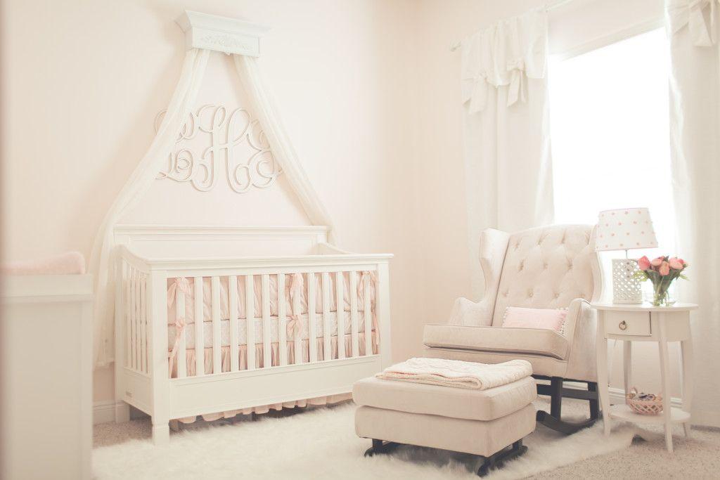 Pink Simplicity Nursery Light Pink Nurseries Baby Canopy Bed