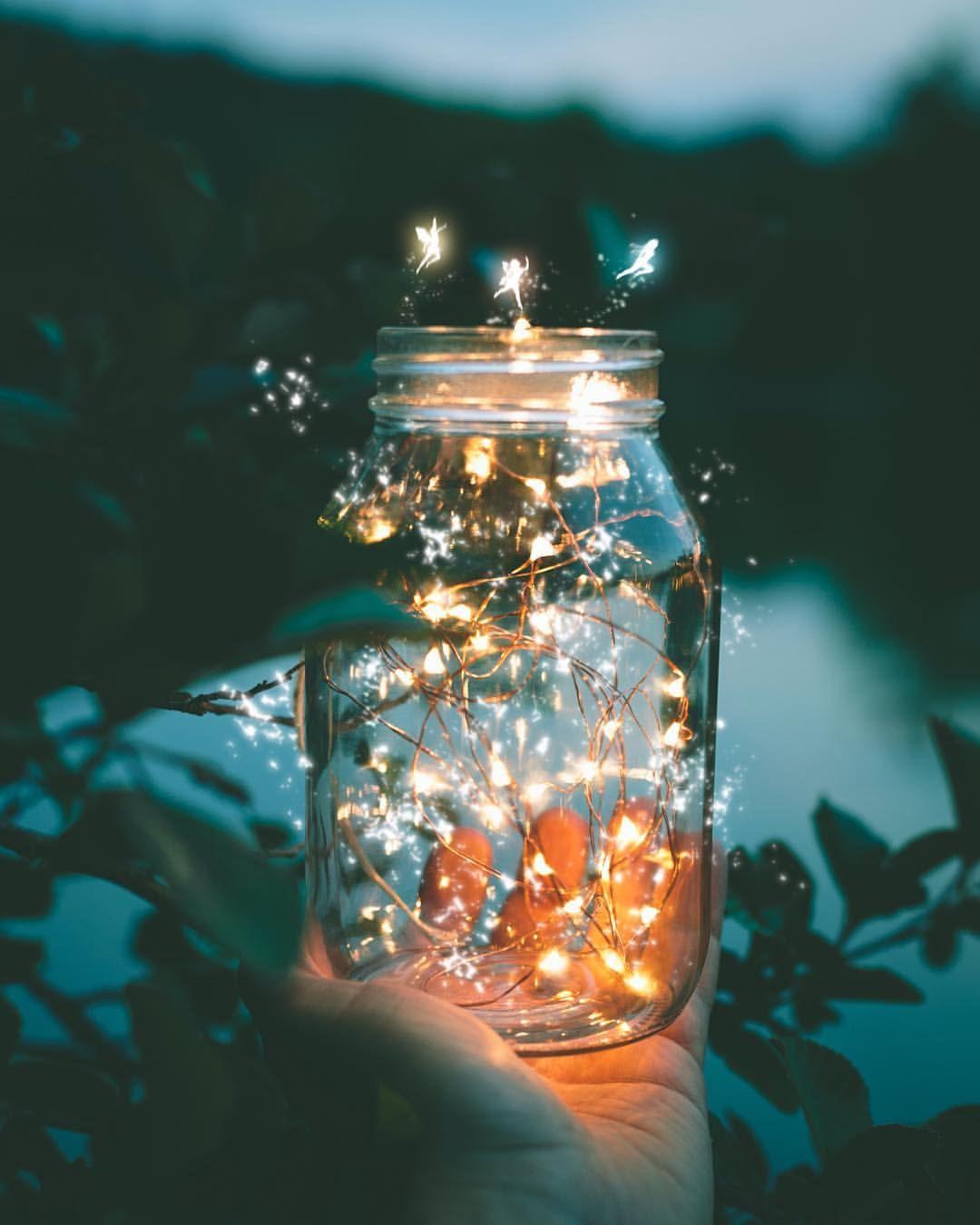 108 Likes 6 Comments Silviu Z Silviuz On Instagram They Escaped Tonetality Mason Jar Fairy Lights Fairy Light Photography Lit Wallpaper