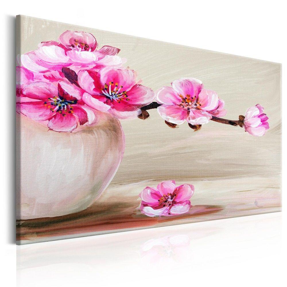 Obraz Na Plotnie Martwa Natura Wisnia Japonska Flowers Graphic Art Sakura