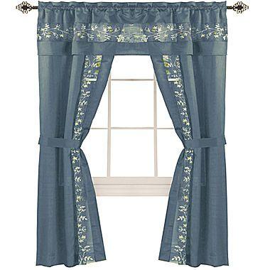 Fairfield 5 Pc Rod Pocket Curtain Set Rod Pocket Curtains