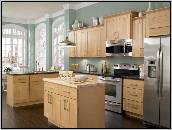 Exceptionnel Kitchen Wall Colors With Honey Maple Cabinets Painting From Honey Cabinets  Kitchen