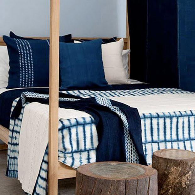 West African Indigo #sheets #bedlinen #homeinteriors linen, bespread, duvet cover | See more at www.plumesilk.com