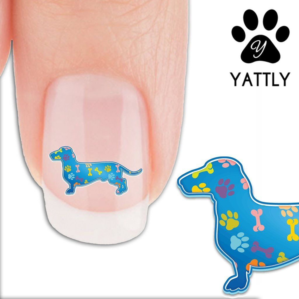 Dachshund Paws And Bones Nail Art Decals Now 50 More Free