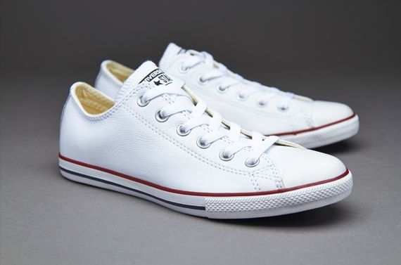 Mens Shoes  Converse Chuck Taylor All Star Lean Seasonal Leather  White